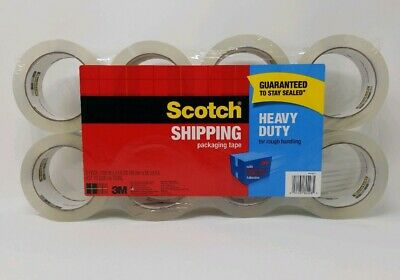 Scotch Shipping Packaging Tape 8 Pack 1.88 Inches X 54.6 Yd Total 437 Yd