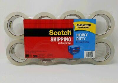 8 Rolls Scotch 3m Heavy Duty Packaging Tape 1.88in X 54.6yd Free Fast Shipping