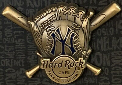 Hard Rock Cafe NEW YORK YANKEE STADIUM 2017 3-D Baseball Glove PIN - HRC #96485