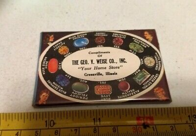 Vintage The George V. Weise Co Greenville Illinois Advertising Pocket Mirror