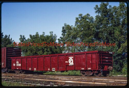 Orig. Slide - Conrail Gondola CR 582028, Hagerstown, MD - 1992