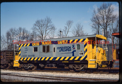 Orig. Slide - CSX Caboose CSXT 904119, Martinsburg, WV - 1992
