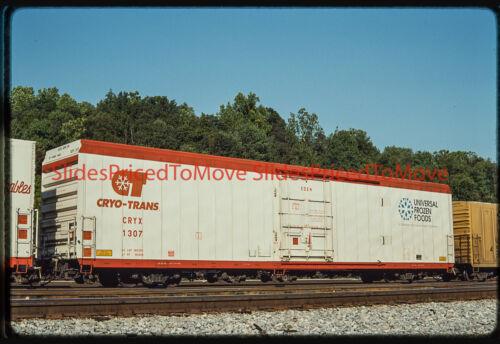 """Orig. Slide - Cryo-Trans Reefer CRYX 1307 """"Eden"""", Brunswick, MD - 1992"""