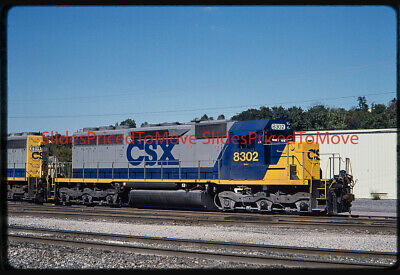 Orig. Slide - CSX SD40-2 CSXT 8302, Brunswick, MD - 1996