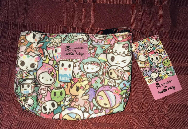 Tokidoki x Hello Kitty Pouch Cosmetic Case New