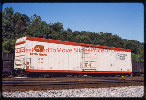 """Orig. Slide - Cryo-Trans Reefer CRYX 1284 """"Boulder"""""""", Brunswick, MD - 1992"""