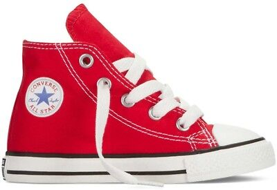 Converse Chuck Taylor Hi Top Red White Canvas For Toddlers (Little Kids) 7J232](Chuck Taylors For Toddlers)