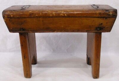 Vtg Wood Bench Mortised Circa 1920s-30s Very Nice!