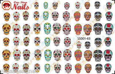 Dia De Los Muertos Tattoos (63 Sugar Skull Nail Art Stickers Transfers Decals Tattoo, Dia de los Muertos)