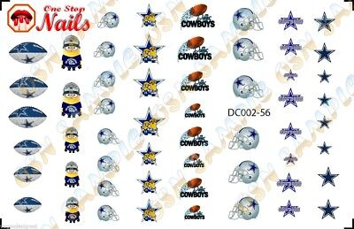 56pcs Dallas Cowboys Minions Nail Art Decals Stickers Transfers. DC002-56](Dallas Cowboys Nail Stickers)