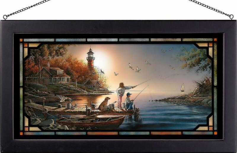 Terry Redlin From Sea to Shining Sea Framed Stained Glass Window Panel