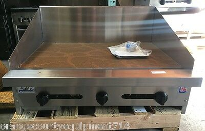 New 36 Griddle Flat Top Grill Gas Stratus Smg-36-sb-12h 4098 Commercial Cook