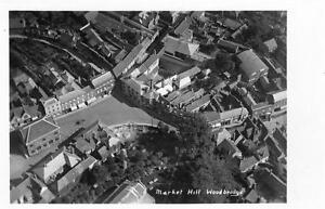 Market-Hill-Woodbridge-Aerial-View-RP-old-postcard-used-Good-cond