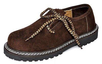 Trachten Schuhe Für Kinder (Kinder Trachtenschuhe Haferlschuhe für Trachtenlederhose Dunkelbraun)