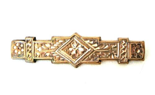 Antique Victorian Era Gold Filled Bar Pin Brooch