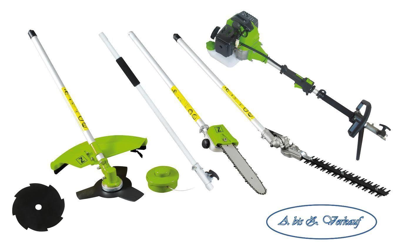 Gartenpflegeset Zipper ZI-GPS182G ohne 2-te. Sägeblatscheibe Trimmer Sense Säge