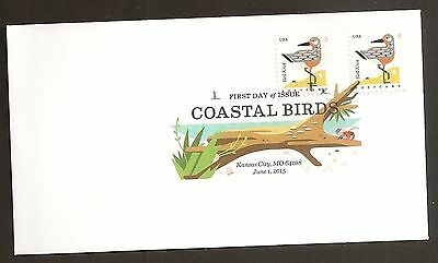 US 4991 Coastal Birds Red Knot DCP FDC 2015
