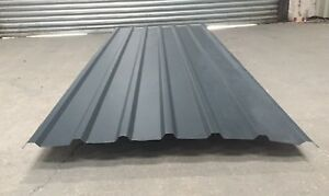 Cheap Steel Metal Box Profile Dark Slate Grey Roofing Cladding 10FT Long Sheets