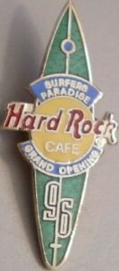 Hard-Rock-Cafe-SURFERS-PARADISE-1996-Grand-Opening-GO-PIN-Surfboard-HRC-9367