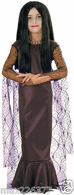 NEW Girl Movie Halloween Costume Morticia Dress Addams Family Large 12-14 child  - Addams Family Baby Halloween Costumes