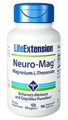 Neuro-Mag Magnesium L-Threonate Memory Life Extension 90 Capsules caps Buy Bulk