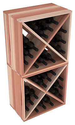 48 Bottle Kitchen Cube Wine Rack Kit in Premium Redwood. Hand Crafted in the USA