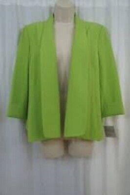 Details about Kasper Petite Suit Jacket Sz 10P Keylime Green Citrus Business Din