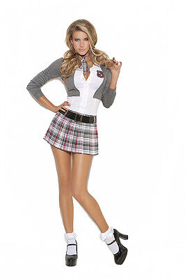 3 Pc Costume Super Sexy School Girl Plus & Regular Sizes Adult Woman