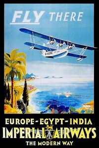 Vintage-Travel-POSTER-Egypt-Fly-Air-Home-art-Decor-Bedroom-Interior-design-1350
