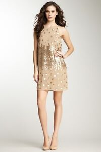 Matty M Spaghetti Strap Sequin Dress Size M Cafe-Au-Lait