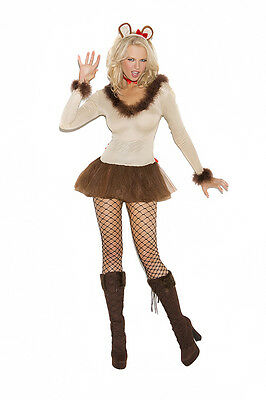 Lioness - 4 Piece Costume Cat Adult Woman Feline Animal Wizard of Oz Lion (Woman Wizard Costume)