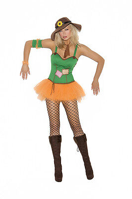 Sexy  5PC Sunflower Scarecrow Women's Halloween Party Costume. Wizzard of Oz