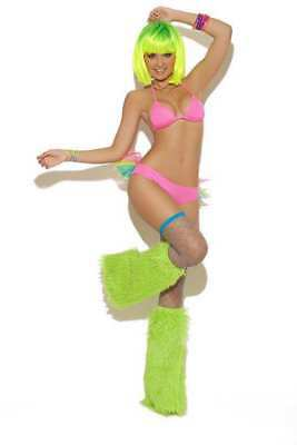 Elegant Moments Bra Sets - Elegant Moments Neon Nites Clubwear Dancer String Bra Tutu Panty Set