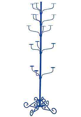 Hat Display Rack Boutique 5-tier Millinery Floor Stand Custom Royal Blue