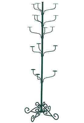 Hat Display Rack Boutique 5-tier Millinery Floor Stand Green Hammertone