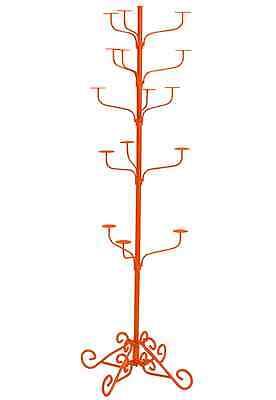 Hat Display Rack Boutique 5-tier Millinery Floor Stand Custom Tiger Orange