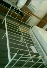 A brand new 2 tone mettle double bed frame.