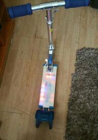 cosmic light flashing 3 wheel scooter