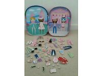 Magnetic Dress Up Doll Set Toy.