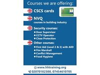 CSCS COURSES/ ECS CARDS/ NVQ COURSES/ FIRST AID/ ELECTRICAL COURSES