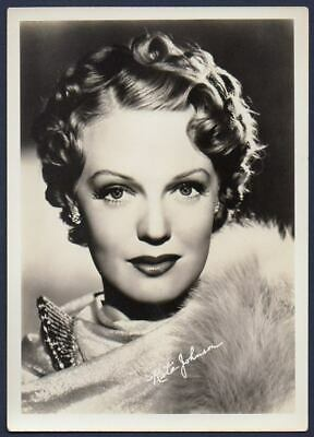 RITA JOHNSON sexy actress VINTAGE ORIG FAN PHOTO DBW 5x7 printed autograph