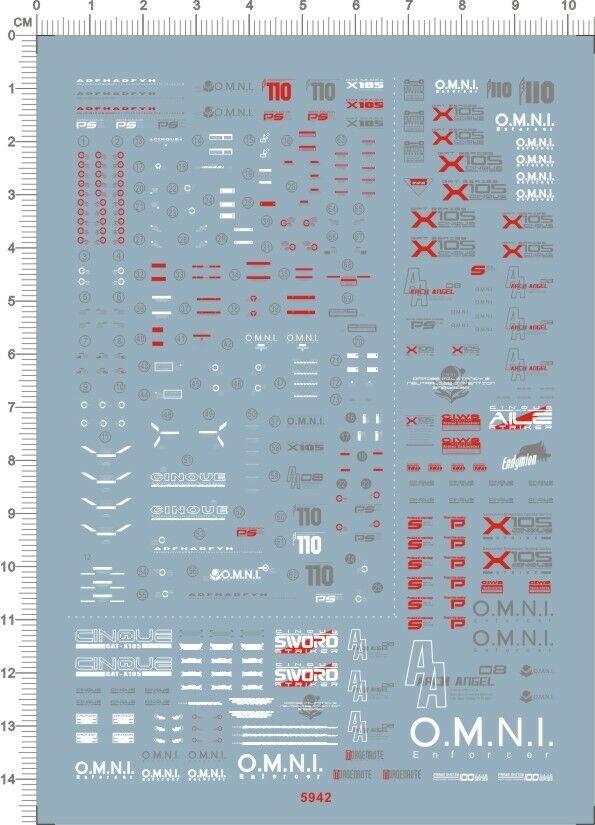 Detail Up 1:144 RG Aile Strike Gundam Model Kit Marine Decal Transfer Sheet HG