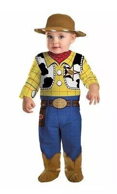 Disney Baby Boys Pixar Toy Story Woody Costume 0-6 Months Jumpsuit, Hat, (Woody Kostüm Baby)