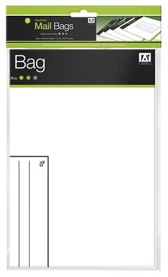 5 x Large Strong White Polythene Envelopes Postal Mailing Bags 13 x 16