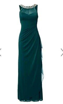 Schickes Abendkleid von Heine mit Rückenausschnitt lang festlich grün Größe 34