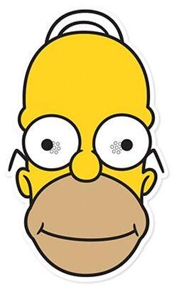 Homer Simpson von The Einzelne Karte Gesicht Maske Spaß At Themenbezogene Partys