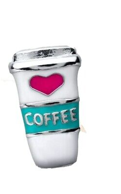 Authentic Origami Owl COFFEE TO GO CUP Floating Enamel Charm BRAND NEW