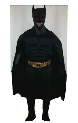 BATMAN The Dark Night SUIT MASK BOOTS BELT CAPE FREETOO TACTICAL GLOVES