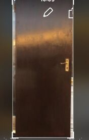 A solid fire door in excellent condition, size 710 x 1910, £25.00