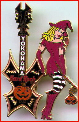 Hard Rock Cafe YOKOHAMA 2002 HALLOWEEN PIN Sexy WITCH Girl w/Guitar - HRC #14847 (Hard Rock Halloween)
